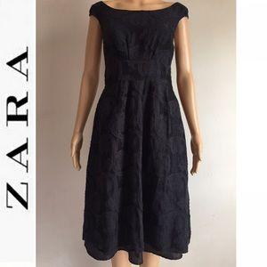 Zara Woman laced midi dress